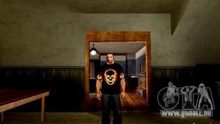 T-shirt noir avec un crâne pour GTA San Andreas