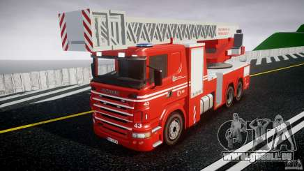 Scania Fire Ladder v1.1 Emerglights blue [ELS] für GTA 4