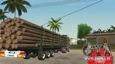 Le transporteur de bois remorque KRONE pour GTA San Andreas