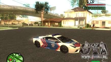 Lamborghini Reventon Police für GTA San Andreas