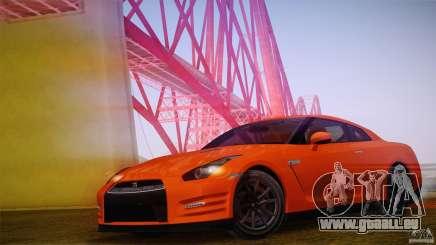Nissan GTR R35 Tunable v2 pour GTA San Andreas