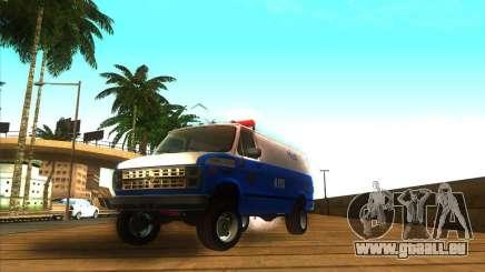 Chevrolet Van G20 BLUE NYPD 1990 pour GTA San Andreas