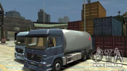 Mercedes Benz Actros Gas Tanker pour GTA 4