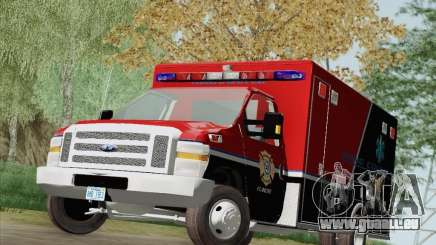 Ford E-350 AMR. Bone County Ambulance pour GTA San Andreas
