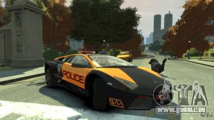 Lamborghini Reventon Police Hot Pursuit für GTA 4