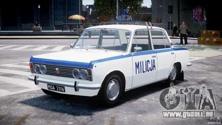 Fiat 125p Polski Milicja pour GTA 4