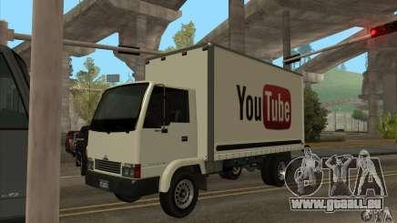 Camion avec logo YouTube pour GTA San Andreas