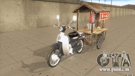 Honda Super Cub avec un chariot pour GTA San Andreas
