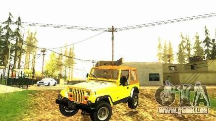 Jeep Wrangler Convertible pour GTA San Andreas