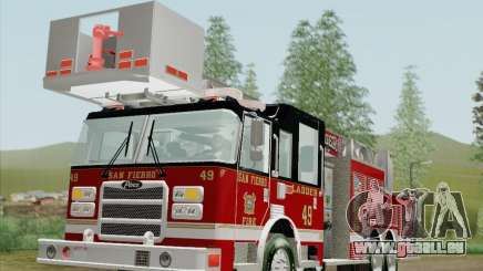 Pierce Rear Mount SFFD Ladder 49 für GTA San Andreas