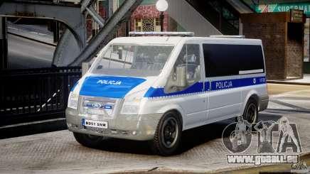 Ford Transit Polish Police [ELS] für GTA 4