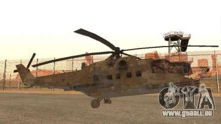 Mi-24p Desert Camo pour GTA San Andreas