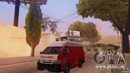 Toyota Hiace Philippines Red Cross Ambulance für GTA San Andreas