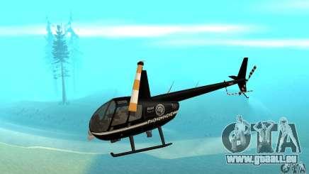 Robinson R44 Raven II NC 1.0 noir pour GTA San Andreas