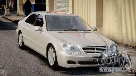Mercedes-Benz W220 белый pour GTA 4
