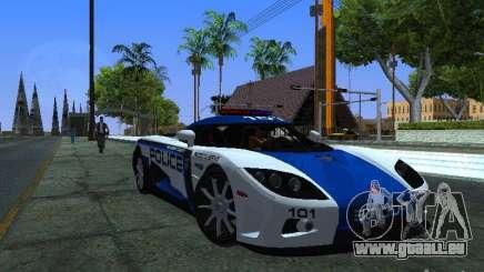 Koenigsegg CCX Police pour GTA San Andreas