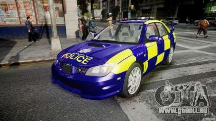 Subaru Impreza WRX Police [ELS] pour GTA 4