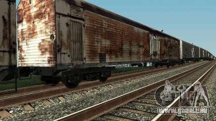 Refrežiratornyj wagon Dessau no 4 Rusty pour GTA San Andreas