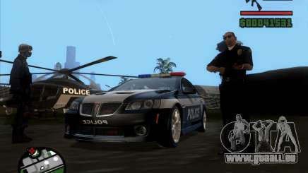 Pontiac G8 Police für GTA San Andreas