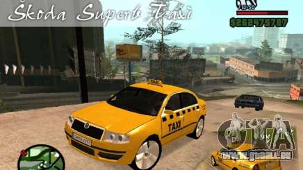 Skoda Superb TAXI cab für GTA San Andreas