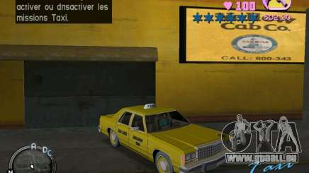 Ford Crown Victoria LTD 1985 Taxi für GTA Vice City