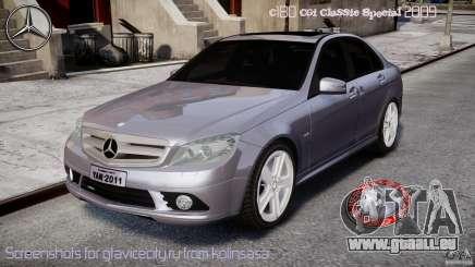 Mercedes-Benz C180 CGi Classic Special 2009 für GTA 4