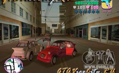 Citroen 2CV spoiler pour GTA Vice City