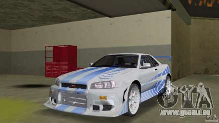 Nissan Skyline R-34 2Fast2Furious pour GTA Vice City