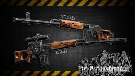 Dragunov Scharfschütze-Gewehr-V 1.0 für GTA San Andreas