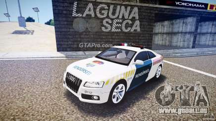 Audi S5 Hungarian Police Car white body für GTA 4