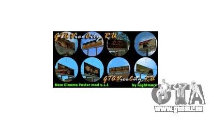 New Cinema Poster mod GTA Vice City pour GTA Vice City