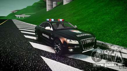 Audi S5 Hungarian Police Car black body pour GTA 4