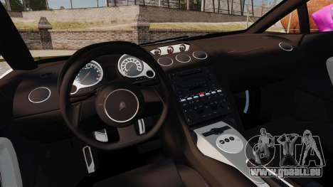 Lamborghini Gallardo 2005 [EPM] Pink Camo pour GTA 4 est une vue de l'intérieur