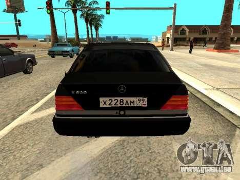 Mercedes-Benz w140 s600 für GTA San Andreas zurück linke Ansicht