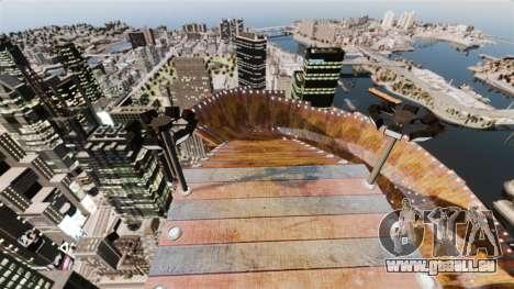 Piste vertigineuse pour GTA 4 secondes d'écran