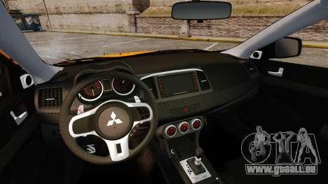Mitsubishi Lancer Evolution X pour GTA 4 est un côté