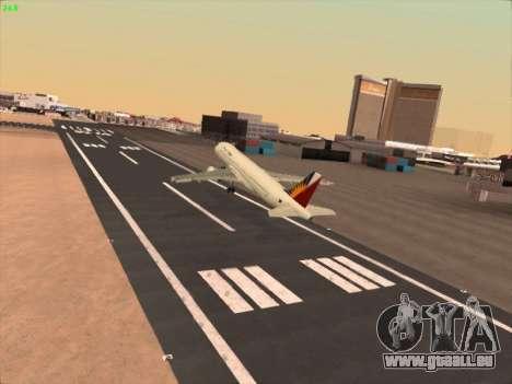 Airbus A320-211 Philippines Airlines für GTA San Andreas Seitenansicht