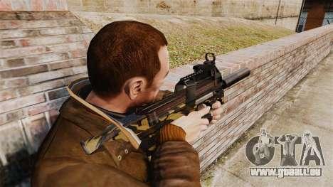V6 de mitraillette belge FN P90 pour GTA 4 secondes d'écran