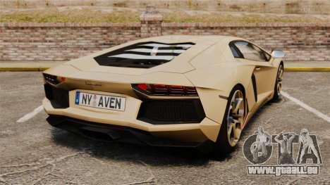 Lamborghini Aventador LP700-4 2012 v2.0 pour GTA 4 Vue arrière de la gauche