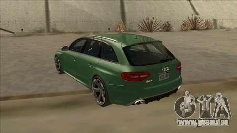 Audi RS4 Avant B8 2013 V2.0 pour GTA San Andreas vue de droite