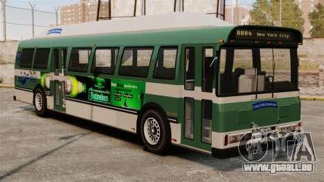 Die neue Werbung auf dem bus für GTA 4 hinten links Ansicht