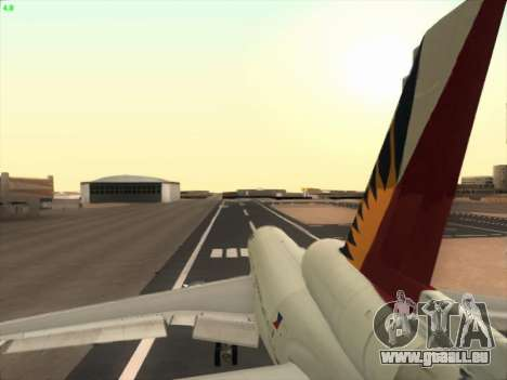 McDonell Douglas DC-10 Philippines Airlines für GTA San Andreas obere Ansicht