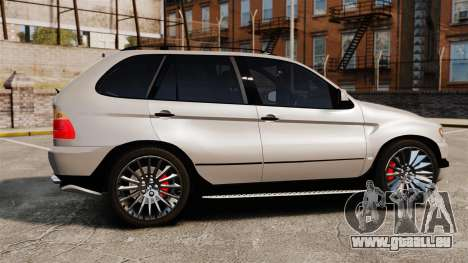 BMW X5 4.8iS v2 pour GTA 4 est une gauche