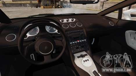 Lamborghini Gallardo 2005 [EPM] Italian pour GTA 4 est une vue de l'intérieur
