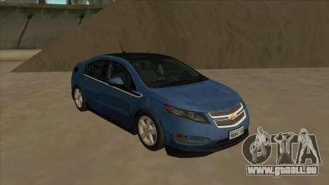 Chevrolet Volt 2011 [ImVehFt] v1.0 pour GTA San Andreas laissé vue