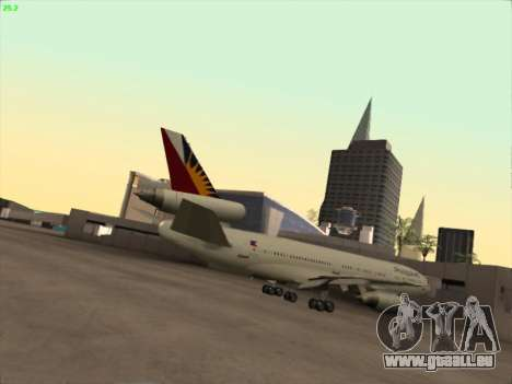 McDonell Douglas DC-10 Philippines Airlines für GTA San Andreas rechten Ansicht