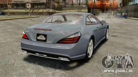 Mercedes-Benz SL500 2013 pour GTA 4 Vue arrière de la gauche