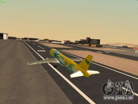 Airbus A320-211 Cebu Pacific Airlines pour GTA San Andreas salon
