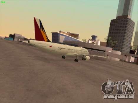 Airbus A320-211 Philippines Airlines für GTA San Andreas rechten Ansicht
