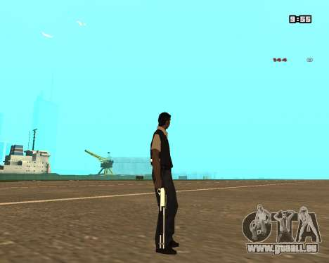 White Chrome Shotgun für GTA San Andreas
